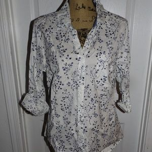 Style&Company Button Down flower shirt